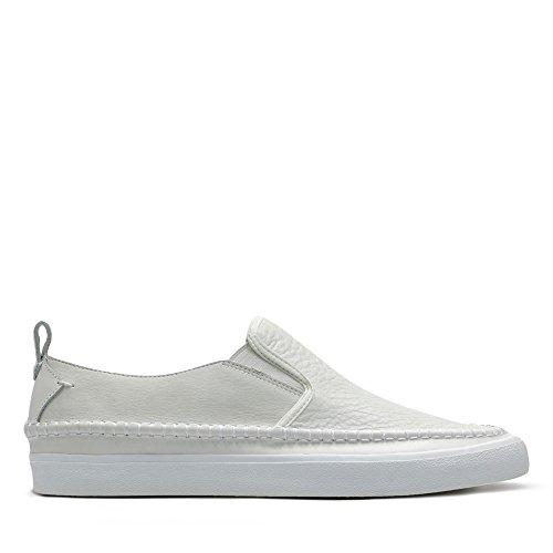 Clarks Herren Kessell Slip Slipper, Weiß (White Leather), 42 EU