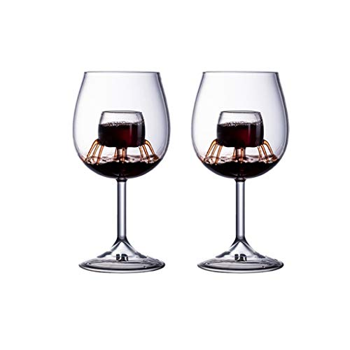 LLRZ Juego de copas de vino tinto, copas de cristal transparente, gran regalo para el hogar, fiesta, Navidad, celebración, sommelier (color: transparente)