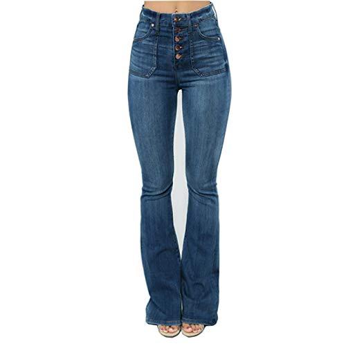 Jeans de Estilo para Mujer para otoño e Invierno Botones Expuestos Que Dan Forma a los glúteos Delgados Levantamiento de glúteos Todo-fósforo Tallas Grandes XS