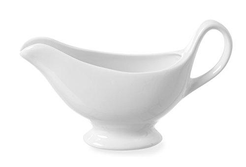 HENDI Sauciere, Zubehör, geeignet für Geschirrspüler, 180x55x(H)130mm, Weiß Porzellan