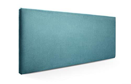 SUENOSZZZ-ESPECIALISTAS DEL DESCANSO Cabecero de Cama Liso tapizado en Tela para Camas de 90 (100 x 57 cm) Tela Turquesa