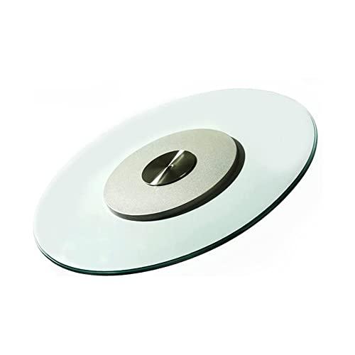 MIZP Giradischi Lazy Susan, Vassoio girevole con cuscinetti silenziosi Giradischi trasparente Tavolo da pranzo rotondo Girevole Piatto da portata grande da tavolo / 10mm / 90cm/35.4in