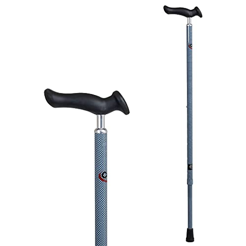 Carex Health Brands Comfort Walking Cane with an Ergonomic Extra Comfortable Grip, Light Gray (FGA51100 0000)