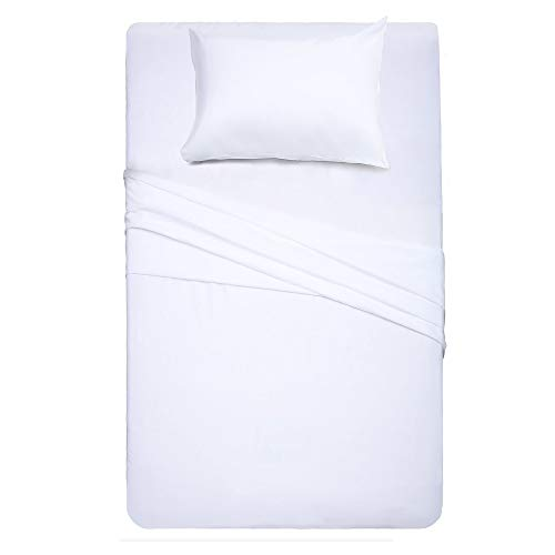 Twin Size Bed Sheet Set - 3 Piece (White),Super Soft Microfiber 1800 Thread Count Luxury Egyptian Sheets with 16-Inch Deep Pocket Wrinkle and Hypoallergenic by Best Season