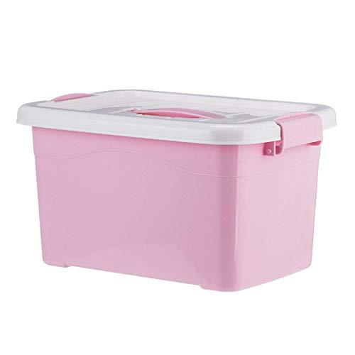 BIEKANNM Stack & Pull Aufbewahrungsbox Top Box 15L Aufbewahrungsboxen Kunststoff mit Deckel Große Stapelboxen Stapelboxen mit Schnappverschluss Kunststoff Transparent Deckel