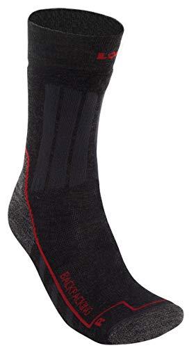 Lowa Backpacking Grau, Merino Socken, Größe EU 47-48 - Farbe Anthrazit