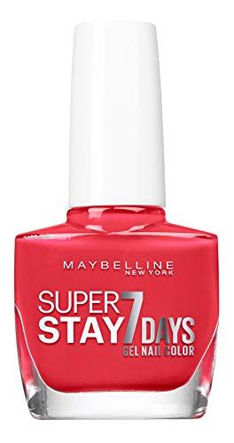 Maybelline New York – Vernis à Ongles Professionnel – Technologie Gel – Super Stay 7 Days – Teinte : Blood Orange (493)