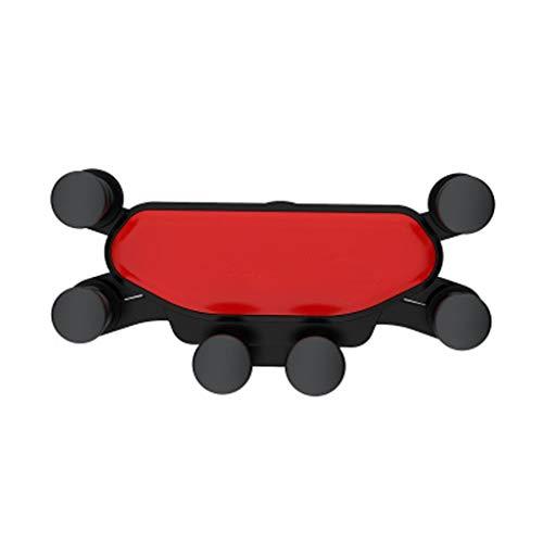 WXWJ Schwerkraft-Autohalterung Für Telefon In Der Autolüftungsklammerhalterung Kein Magnetischer Handyhalter GPS-Stand (Color : Red)