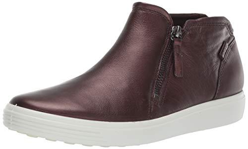 ECCO Women's Women's Soft 7 Zip Bootie Shoe, fig Metallic, 38 M EU (7-7.5 US)