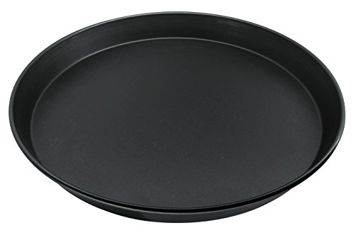 Zenker - Teglia da forno rotonda, 30 cm, serie 'Pure', teglia per pizza e pizza, colore: nero, quantità: 1 pezzo
