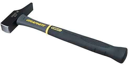 Stanley Schreinerhammer Graphite (400 g Kopfgewicht, Vibrationsdämpfung, kein Splittern/Brechen, Stahlguss) 1-54-901