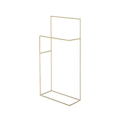 Hjypmjj Handtuchhalter freistehend,Handtuchhalter stehend,Metall Kleiderständer Badaccessoire, für den Balkon im Badezimmer/golden / 42x20x91cm