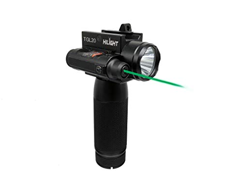 HiLight Upgraded Exterior Green Dot 1000 Lumen LED Flashlight Handle for 20mm Guide Rail Indoor Outdoor