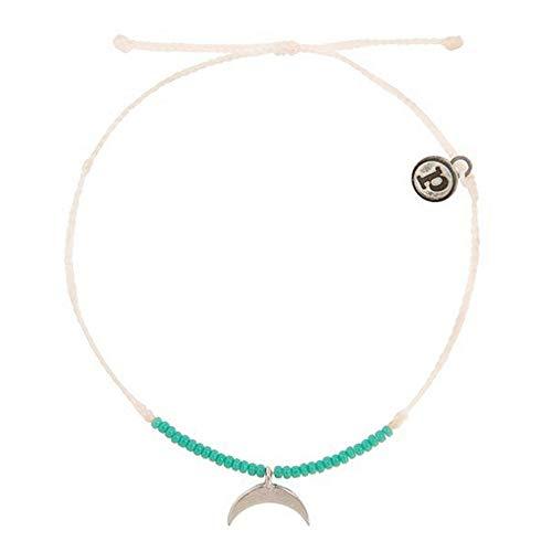 WHFDRHSZ Armband Armband Voor Vrouwen Weave Koord Slanke Dunne Zaad Beaded Armband Maan Bedel Armband