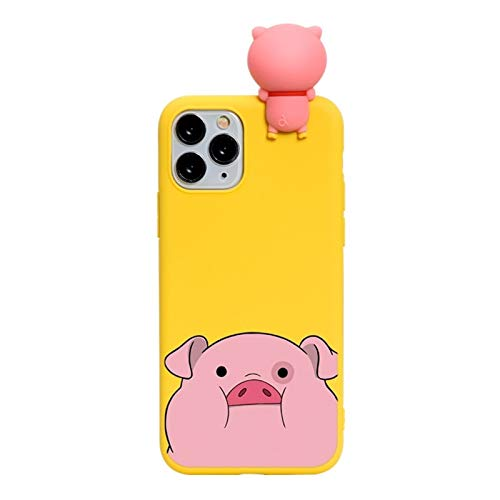 DAMAIA DMKJFFF Cartoon-Paare 3D-Puppen-Kasten for iPhone 12 11 Pro X XR XS Max 7 8 Plus for iPhone SE 2 2020 Nette Silikon-Abdeckung (Color : Kihu pangzhu, Material : for iPhone 12 Pro)