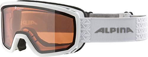ALPINA Unisex - Erwachsene, SCARABEO S QH Skibrille, white, One size