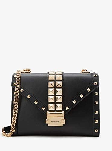 Michael Kors Ladies Whitney Leather Studded Shoulder Bag in Black product image