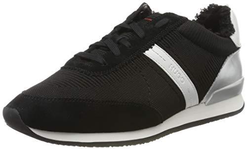 HUGO Adrienne-Fur, Zapatillas para Mujer, Negro (Black 001), 39 EU