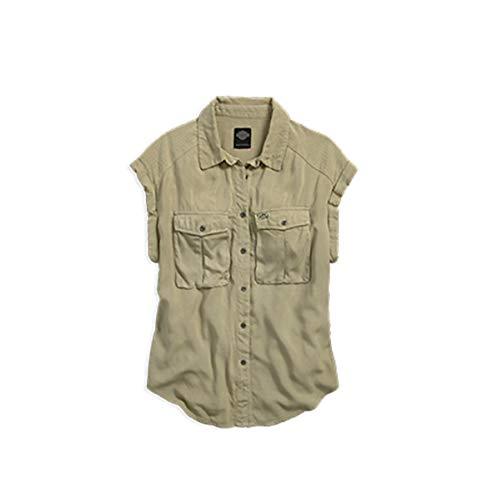 HARLEY-DAVIDSON Bluse Rayon Short Sleeved b, L