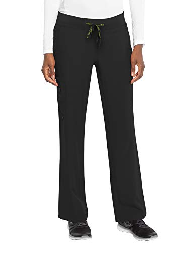 Med Couture Activate Women's Yoga One Pocket Cargo Pant, Large Petite, Black