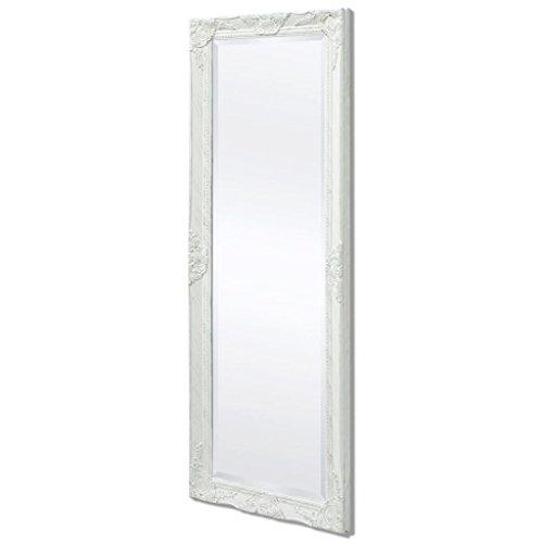 specchio da parete 60x120 Festnight Specchio da Parete Cornice Rettangolare Stile Antico Barocco 120x60cm/140x50cm Bianco/Dorato/Argentato/Nero per Bagno/Salotto/Camera