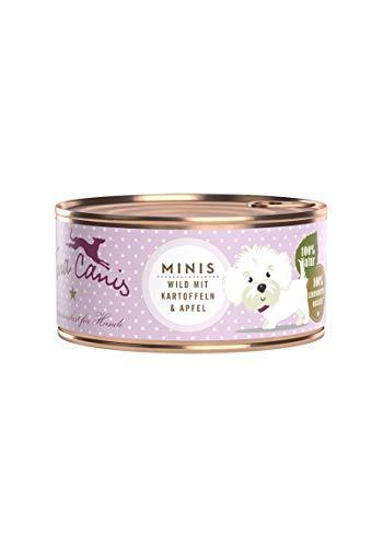Terra Canis Mini-Hunde Nassfutter I Reichhaltiges Premium Hundefutter in echter Lebensmittelqualität mit Wild, Kartoffel & Apfel I 100g, allergenarm, getreidefrei & glutenfrei