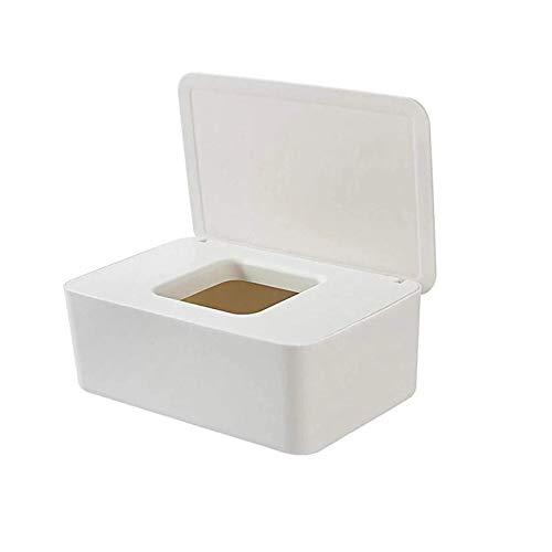 Caja toallitas humedas,Dispensador de Toallitas Húmedas,Caja para Toallitas,Caja para Toallitas Húmedas con Tapa Sello (A)