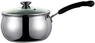 Olla de sopa Crisol del acero inoxidable leche engrosamiento del hogar sopa de olla antiadherente olla de cocina Cocina de avena caliente leche Olla Fogón de gas (Color : 14cm)