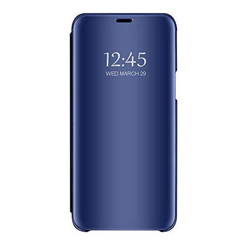Funda de piel sintética compatible con S7/S7 Edge, con función atril para S7/S7 Edge, color negro (Samsung Galaxy S7, azul)