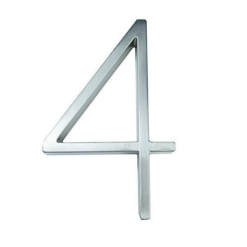 Ztengyu-Número de dirección Postal 127 mm Número Casa Grande, Dirección Hotel Inicio Puerta Número Números Exterior, for House Numeros, Usos ilimitados (Color : 4)