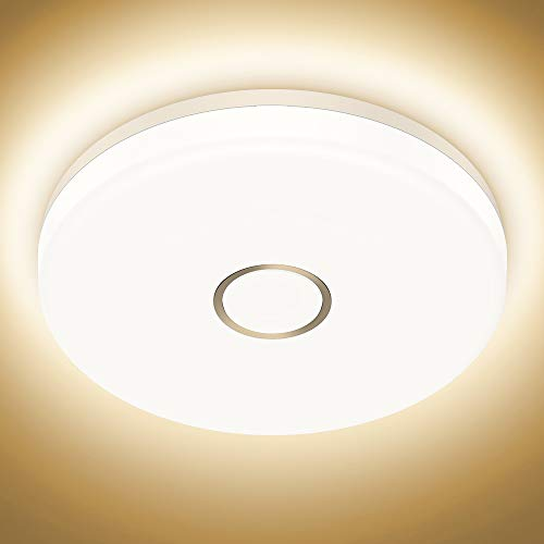 Onforu 32W Deckenleuchte LED, Superhelle 3200lm Küchenlampe, IP54 Wasserdicht Deckenlampe Badezimmer, 2700K Warmweiß Badezimmerlampe Lampe für Schlafzimmer, Bad, Küche, Wohnzimmer Ø28,6cm