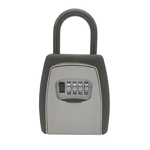 YUHUANG Kombinationsschloss, Außen Schlüsselbox Schlüsselaufbewahrungsbehälter Vorhängeschloss Kombinationsschloss Legierungsmaterial Schlüsselhaken sicher Aufbewahrungsbox