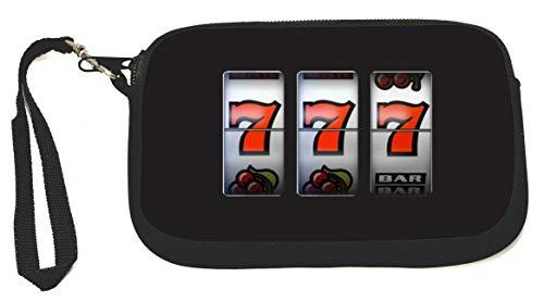 Slot Machines Las Vegas Lucky 7 Zipper Coin Purse - Wristlet - Camera Case - MP3 Case - Ideal for carrying Phone, Cash, Cosmetics, mp3 player, etc. etc.