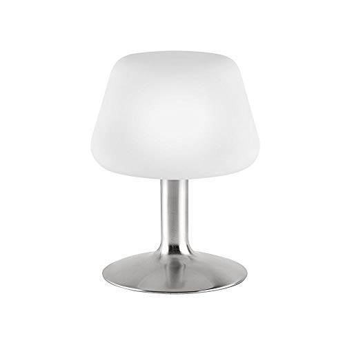 LED Tischleuchte, Stahl, klassisches Design, 3 Stufen Touchdimmer, Tischlampe Nachttischlampe, 1-flammig