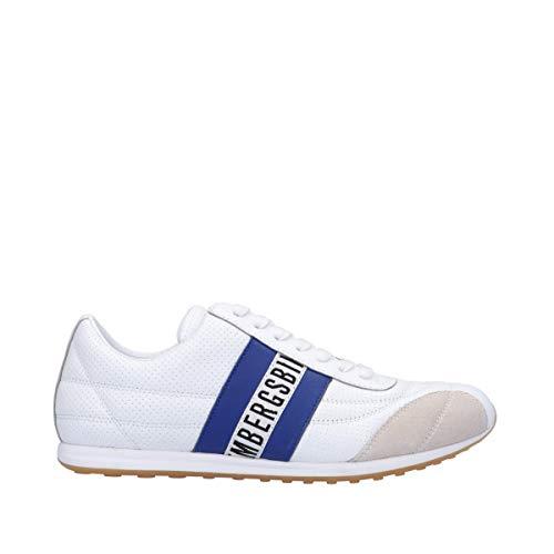 Bikkembergs Scarpe Uomo Art B4BKM0097 White Bluette Colore Foto Misura A Scelta Bianco Blu 42