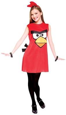 Paper Magic Angry Birds Child Dress Costume, Red, Medium