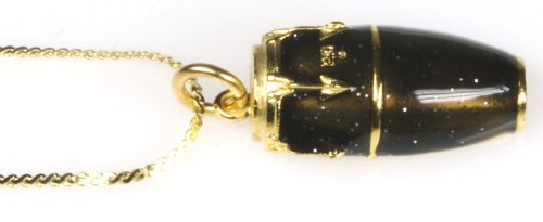 Harmony Jewelry Conga Drum Necklace - Gold and Black