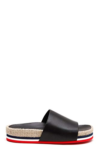 Moncler Luxury Fashion Damen 202880007772999 Schwarz Leder Sandalen | Jahreszeit Permanent