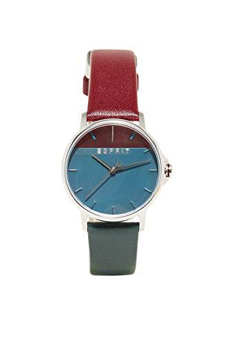 Esprit Damen Analog Quarz Uhr mit Leder Armband ES1L065L0055