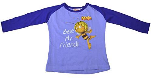Biene Maja Hellblau/Dunkelblau T-Shirt Langarm Gr. 98 Shirt Willi Honigbiene Klatschmohnwiese Flipp Thekla Puck Fräulein Kassandra