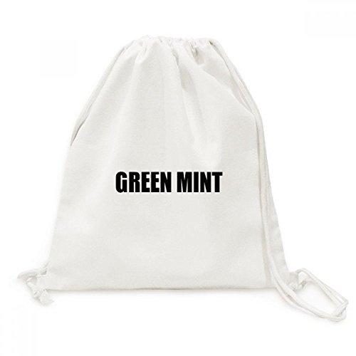 DIYthinker Grüne Minze Farbe Schwarz Name des Canvas-Rucksack-Reisen Shopping Bags