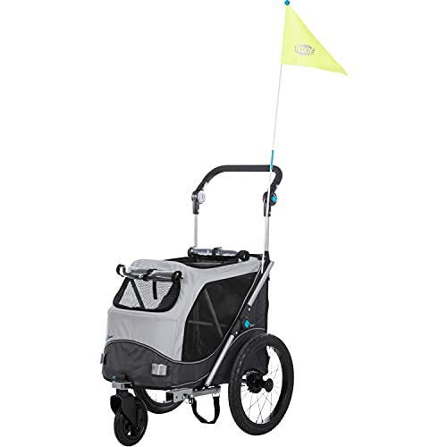 TRIXIE 12794 - Rimorchio per bicicletta, pieghevole, misura S