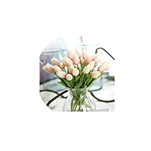 21pcs/lot Tulip Artificial Flower PU Latex Artificial Bouquet Real Touch Flowers for Home Wedding Decorative Flowers&Wreaths
