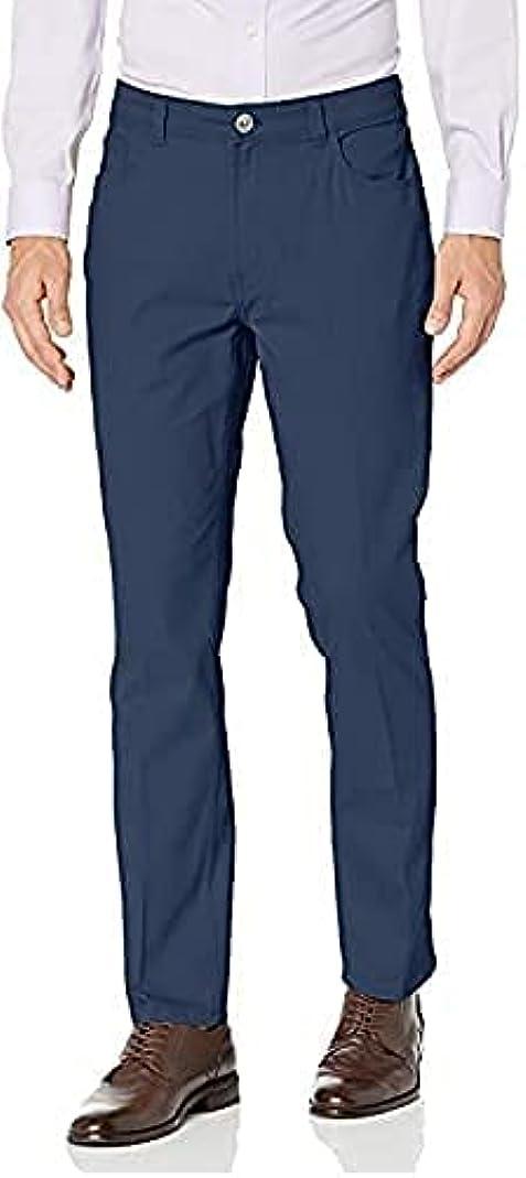 Van Heusen Men's Slim Indefinitely Fit Popular product Stretch Traveler Flat Front Pant