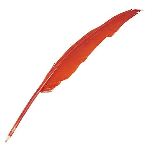 Kreative Quill Kugelschreiber Neuheit-Feder-Signing-Feder für Haupthochzeits-Dekoration Bühnen Prop mit schwarzer Tinte 1pc Red