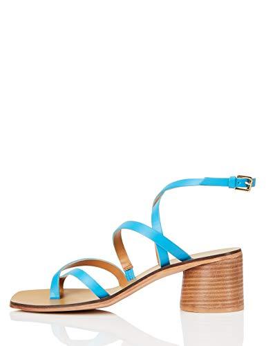 find. R3092, Sandali donna, Blu (Blu (Turquoise)), 40 EU