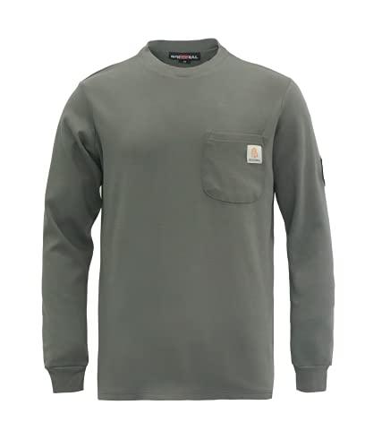 BOCOMAL Flame Resistant Shirt 100% Cotton NFPA2112 7oz Gray Men