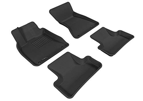 3D MAXpider All-Weather Floor Mats for Audi Q5 2009-2017 / SQ5 2013-2017 Custom Fit Car Floor Liners, Kagu Series (1st & 2nd Row, Gray)