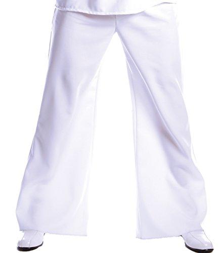 Underwraps Costumes Men's Bell Bottom Pants, White, One Size