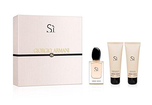 Armani Giorgio armani si set 100ml eau de parfum 75ml body lotion 75ml shower gel